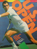 US Open 1986 poster on display at the Billie Jean King National Tennis Center in New York — Stok fotoğraf