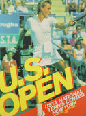 US Open 1984 poster on display at the Billie Jean King National Tennis Center in New York — Stock Photo