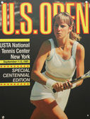 US Open 1981 poster on display at the Billie Jean King National Tennis Center in New York — Stok fotoğraf