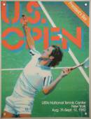 US Open 1982 poster on display at the Billie Jean King National Tennis Center in New York — Stock Photo