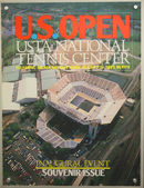 US Open 1980 poster on display at the Billie Jean King National Tennis Center in New York — Stok fotoğraf