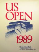 US Open 1989 poster on display at the Billie Jean King National Tennis Center in New York — Stok fotoğraf