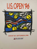 US Open 1996 poster on display at the Billie Jean King National Tennis Center in New York — Stock Photo