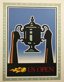 US Open 1998 poster on display at the Billie Jean King National Tennis Center in New York — Stok fotoğraf