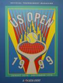 US Open 1999 poster on display at the Billie Jean King National Tennis Center in New York — Stok fotoğraf
