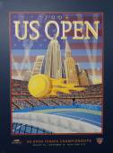 US Open 2006 poster on display at the Billie Jean King National Tennis Center in New York — Stok fotoğraf