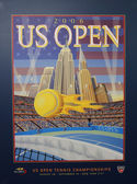 US Open 2006 poster on display at the Billie Jean King National Tennis Center in New York — Stock Photo