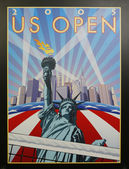 US Open 2005 poster on display at the Billie Jean King National Tennis Center in New York — Stock Photo