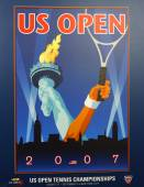 US Open 2007 poster on display at the Billie Jean King National Tennis Center in New York — Stok fotoğraf