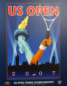US Open 2007 poster on display at the Billie Jean King National Tennis Center in New York — Stock Photo