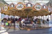 Carrusel de feria tradicional jane en brooklyn — Foto de Stock