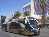 Las Vegas Deuce Bus on the Strip — Stock Photo