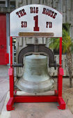Bell cast in San Francisco in 1885 and presented to San Diego Fire Department Engine Company 1 — Stock Photo