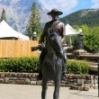 Statue Of An Royal Canadian Mounted Police Riding A Horse — Stock Photo #64278793