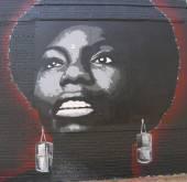 Wandbild kunst im osten williamsburg in brooklyn — Stockfoto