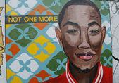 Mural art at Houston Avenue in Soho — Stock Photo