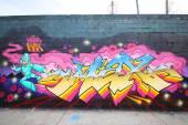 Graffiti art at East Williamsburg in Brooklyn — Foto de Stock