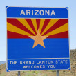 State of Arizona road sign at the state border — Stock Photo #65853509
