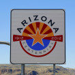 State of Arizona road sign at the state border — Stock Photo #65854655