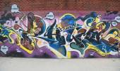 Graffiti art at East Williamsburg in Brooklyn — Stock Photo
