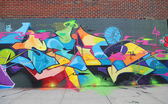 Graffiti art at East Williamsburg in Brooklyn — Stock Photo