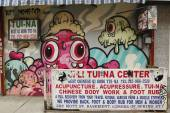 Mural art by Buff Monster in Little Italy — Stock Photo