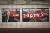 The Royals TV series billboard in New York's subway — Stock Photo