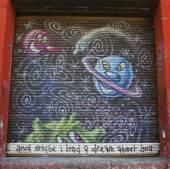 Mural art in Chelsea neighborhood in Manhattan — Zdjęcie stockowe