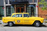 Checker marathon taxi bil tillverkad av checker motors corporation — Stockfoto