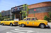 Checker Marathon taxi cars produced by the Checker Motors Corporation — Stock Photo
