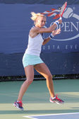 Professional tennis player Lesia Tsurenko from Ukraine during US Open 2014 qualifying match — Stock Photo