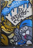 Mural art at Coney Island in Brooklyn — Stock Photo