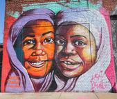Mural art in Astoria section of Queens — Stock fotografie