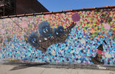Mural art in Astoria section of Queens — Stock Photo