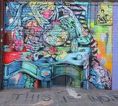 Mural art in Astoria section of Queens — Zdjęcie stockowe