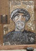 Mural art at East Harlem in New York — Stockfoto