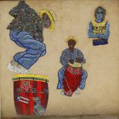 Manny Vega Doğu Harlem New York'ta adlı sanatçının mozaik sokak sanatı — Stok fotoğraf