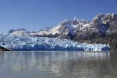 Gray glacier, Torres del Paine National Park, Patagonia, Chile — Stockfoto