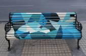 Painted Benches of Santiago in Las Condes, Santiago de Chile — Stock Photo