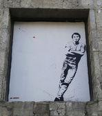 Mural art by Jef Aerosol in Ushuaia, Argentina — Stock Photo