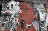 ブルックリンの東ウィリアムズバーグで壁の芸術 — ストック写真