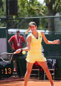 Professional tennis player Julia Goerges of Germany during her match at Roland Garros 2015 — Стоковое фото