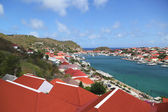 Aerial view at Gustavia Harbor in St Barts — Stock Photo