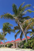 Beach side villa at St. Jean Beach in St Barts — Stock Photo