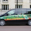 Peugeot van with Perrier logo at Le Stade Roland Garros in Paris — Stock Photo #77823636