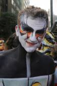 Model during second NYC Body Painting Day in midtown Manhattan — Stock Photo