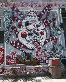 Art mural au sud-est de williamsburg à brooklyn — Photo