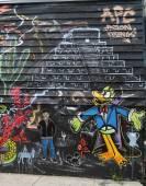 Nástěnné umění na východě williamsburg v Brooklynu — Stock fotografie