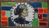 Mural art inspired by American Women in Lower Manhattan — Stock Photo