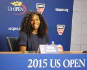 Twenty one times Grand Slam champion Serena Williams during press conference at the Billie Jean King National Tennis Center — Stock Photo